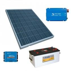 batería solar + regulador + inversor + PV 170 Wp