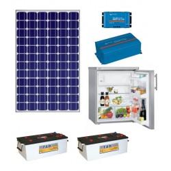 Baterías solares + mppt + multiplus + PV 195 Wp