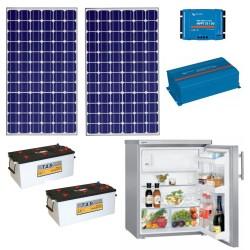 Baterías solares  + mppt + frigorífico-congelador + inv sen + PV